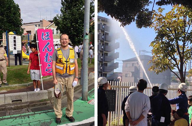 戸田市防災訓練に参加