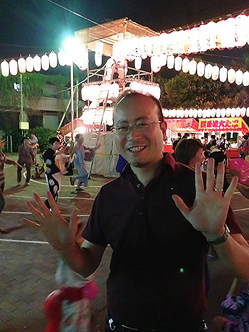 川岸町会 納涼盆踊り大会に参加